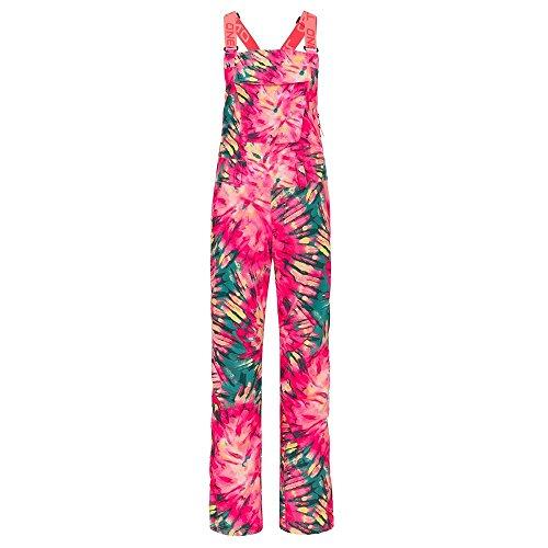 - O'Neill Womens Shred Bib Pant, Pink AOP/Green, X-Small