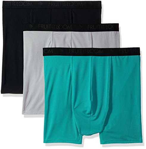 Fruit of the Loom Men's Breathable Underwear, Big Man - Micro Mesh - Assorted Color - Boxer Brief, 4X-Large ()