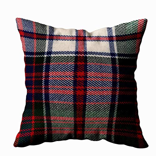 (Capsceoll macdonald dress m original tartan square Decorative Throw Pillow Case 16X16Inch,Home Decoration Pillowcase Zippered Pillow Covers Cushion Cover with Words for Book Lover Worm Sofa)