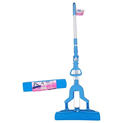 Primeway® Super Absorbent PVA Butterfly Wet Floor Mop with Extra Refill, Blue