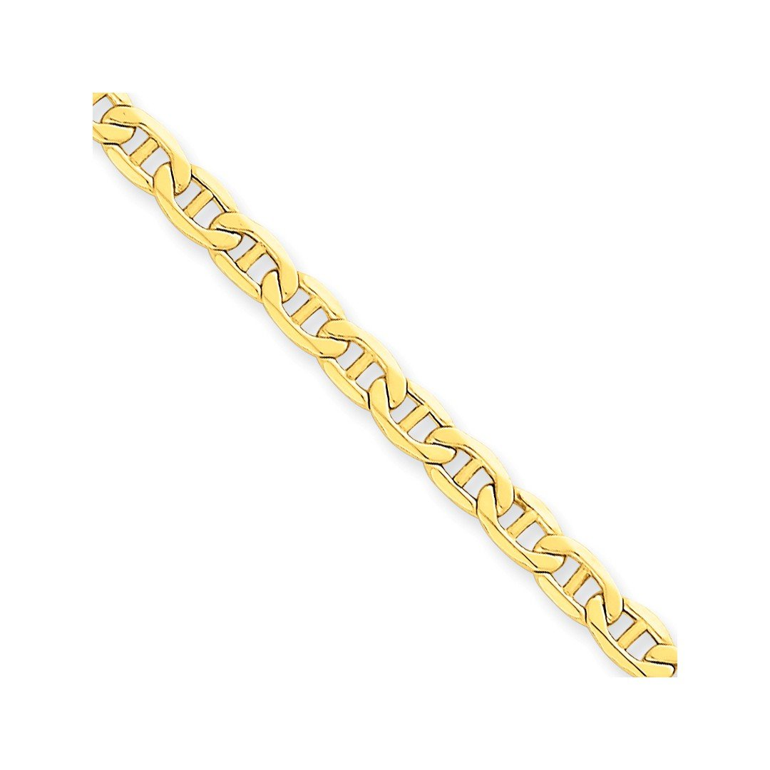 ICE CARATS 14k Yellow Gold 4.1mm Link Anchor Bracelet Chain 7 Inch Fine Jewelry Ideal Mothers Day Gifts For Mom Women Gift Set From Heart