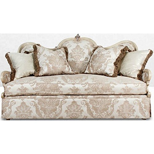 Michael Amini 09825-CHPGN-201 Platine de Royale Wood Loveseat Grp1/Opt1, Champagne