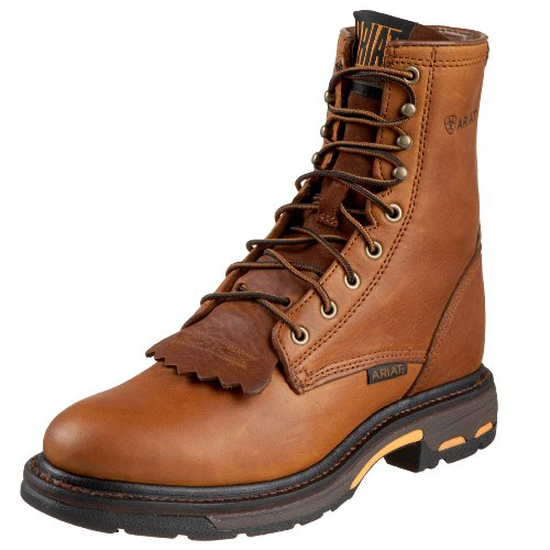 Ariat Mens Workhog 8 Work Boot Golden Grizzly