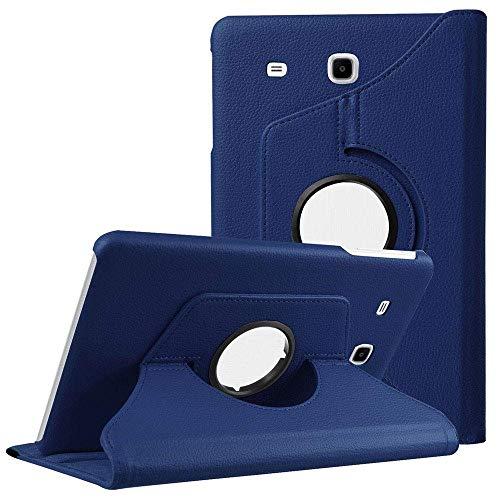 Eleqzun 360 Degree Rotate Flip Cover for Samsung Galaxy TAB E  9.6 inch  SM  T560, T561  Blue