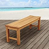 Cheap Amazonia 51 in. Teak Patio Backless Bench