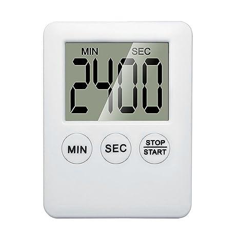 Weka LCD grande temporizador de cocina digital cocina Loud Alarma Reloj de mesa fuerte imán despertador