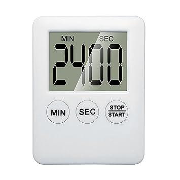 Weka LCD grande temporizador de cocina digital cocina Loud Alarma Reloj de mesa fuerte imán despertador nuevo: Amazon.es: Hogar