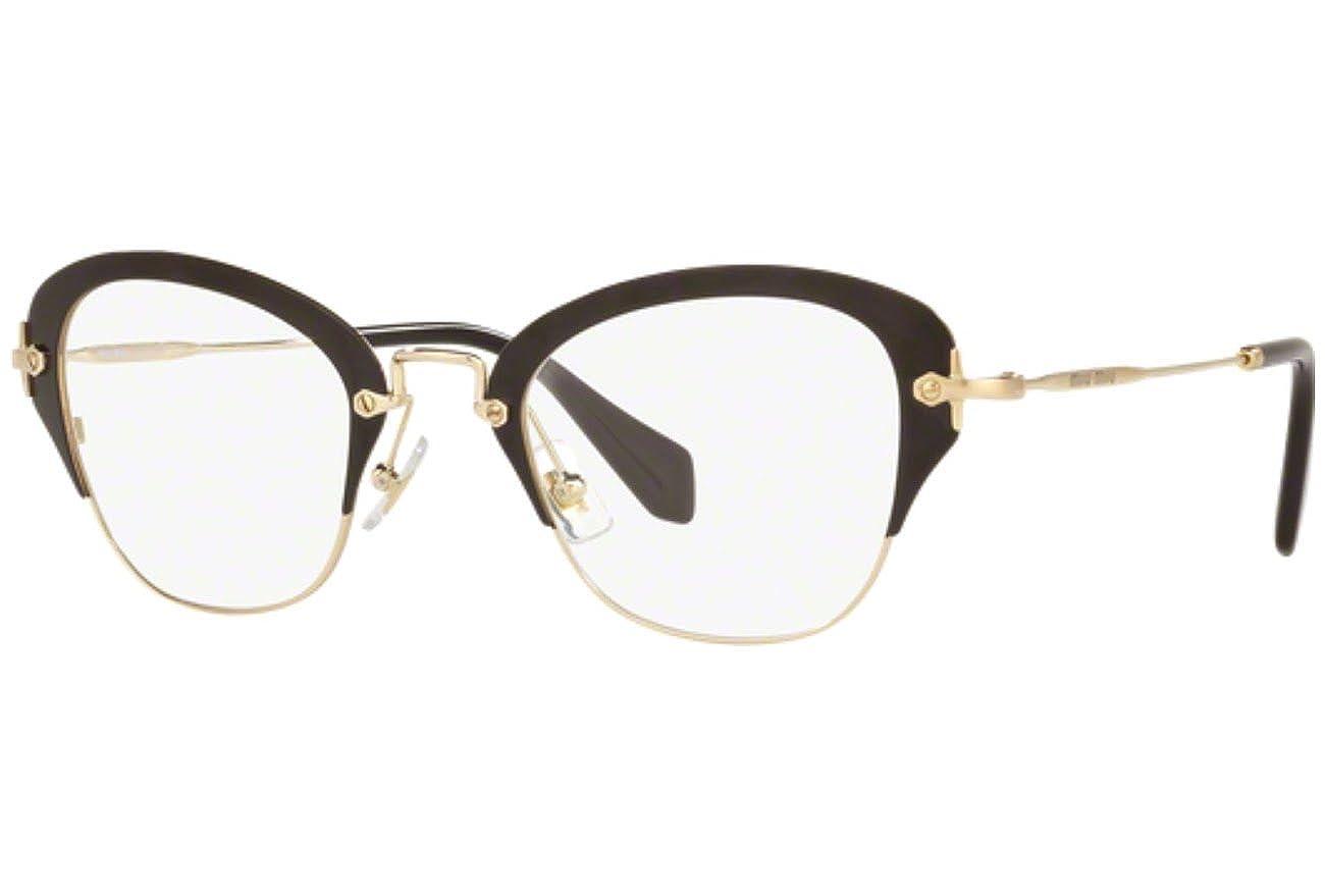 570a573c78 Miu Miu OMU 53OV Women Optical Frame (1AB1O1) Black at Amazon Men s  Clothing store