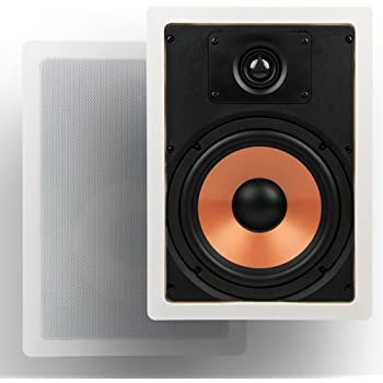 """Micca M-8S 8 Inch 2-Way In-Wall Speaker with Pivoting 1"""" Silk Dome Tweeter (Each, White)"""