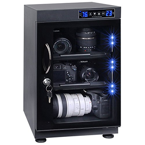 T.A.P 40L LED Numerical Control Touch Screen Dehumidify Electronic Dry Cabinet Box for DSLR Camera Lens by T.A.P