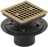 shower tile designs KOHLER K-9136-BGD Square Design Tile-In Shower Drain, Vibrant Moderne Brushed Gold