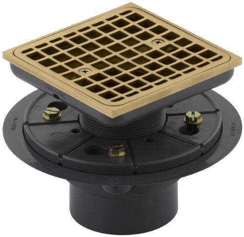 KOHLER K-9136-BGD Square Design Tile-In Shower Drain, Vibrant Moderne Brushed Gold