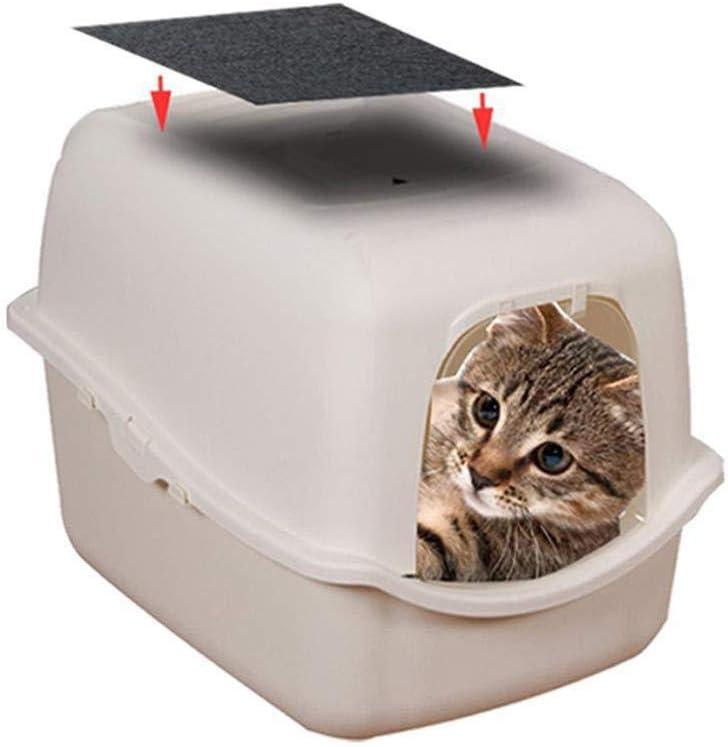 Filtro de Carb/ón Activado Filtro de Caja de Arena para Gatos Filtro de carb/ón de Repuesto Activado para la Bandeja de Arena con Capucha Reduce el Olor y el Olor de la orina