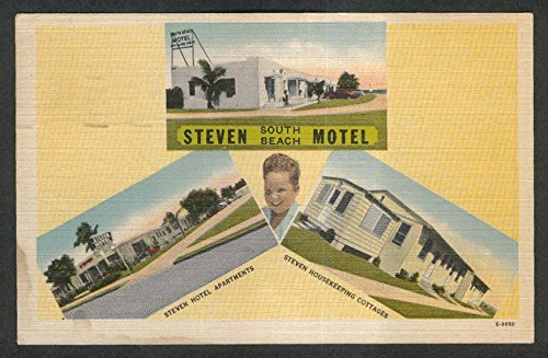 Steven Motel Hotel Apartments Cottages South Beach Key West FL postcard 1950 from The Jumping Frog