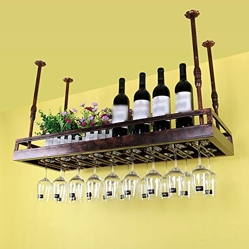 TLMY Red Wine Cup Holder Cup Holder Hanging Upside Down Display Stand Cup Holder Wine rack (Color : Brown, Size : 10035cm)