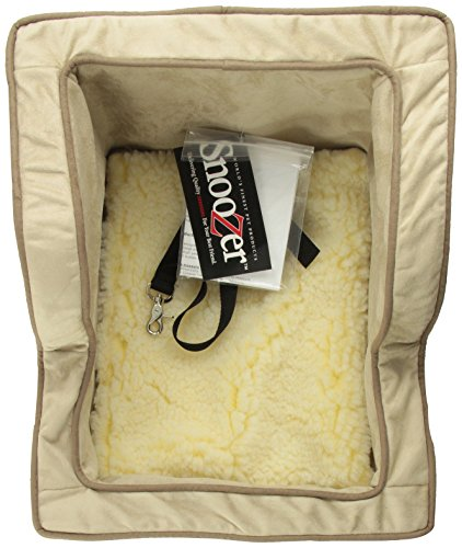 Snoozer Extra Large Luxury High-Back Console Pet Car Seat, Buckskin/Java Microsuede by Snoozer