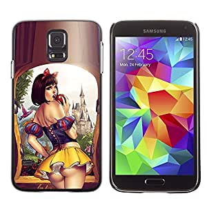 SKCASE Center / Funda Carcasa - Labios Falda Mujer Sensual Chica;;;;;;;; - Samsung Galaxy S5