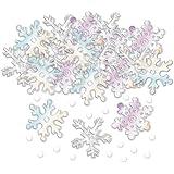 Party Bags 2 Go - Coriandoli a forma di fiocco di neve iridescenti, 14 g