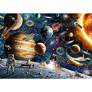 Jigsaw Puzzles 1000 Pieces for Adults Kids Toddlers Teens Family - Planets in Space Jigsaw Puzzle - Outer Space Astronaut - Hand Made Puzzles Personalized Birthday Gift