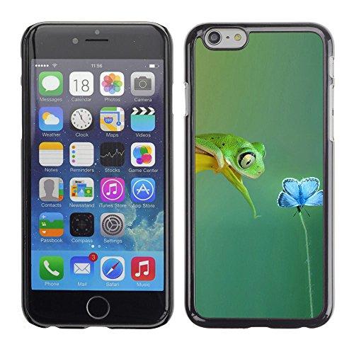 LASTONE PHONE CASE / Coque Housse Etui Shock-Absorption Bumper et Anti-Scratch Effacer Case Cover pour Apple Iphone 6 / Cute Spring Frog Flower Sweet Love Teal Nature