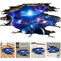 Amaonm Creative 3D Blue Cosmic Galaxy Wall Decals...