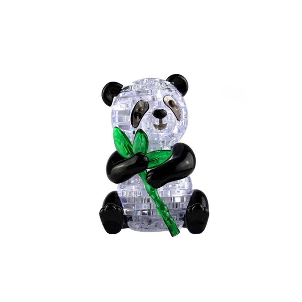 Coolplay 3D Crystal Puzzle Cute Panda Model DIY Gadget Blocks Building Toy Gift