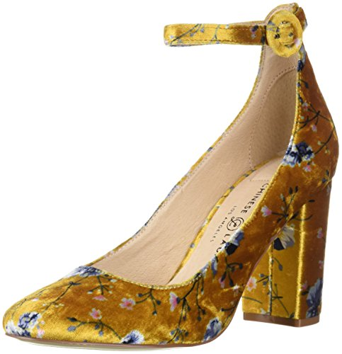Chinese Laundry Women's Veronika Pump, Yellow Floral Velvet, 9 M US