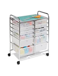 Honey-Can-Do CRT-01683 12 Drawer Chrome Studio Organizer Cart