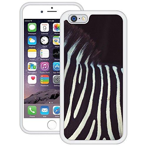 Zebra-Streifen | Handgefertigt | iPhone 6 6s (4,7') | Weiß Hülle