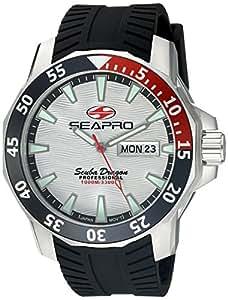 Seapro Men's SP8312 Analog Display Quartz Black Watch