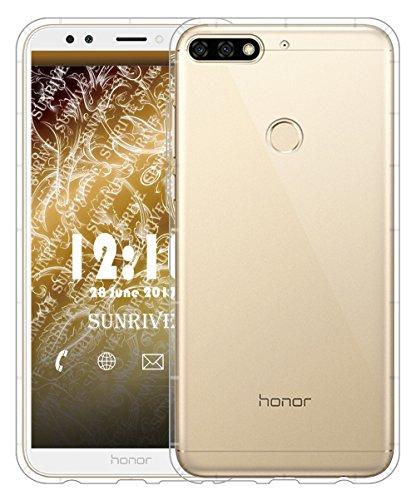 Funda Para Honor 7C, Sunrive Silicona Slim Fit Gel Transparente Carcasa Case Bumper de Impactos y Anti-Arañazos Cojín de aire Espalda Cover(tpu Unicornio 2) tpu No hay un patrón