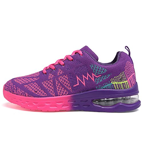 Running Shoes Cushion Sport Púrpura Zapatos Lightweight al Deportes Fitness Unisexo Aire Libre Air xOXqIZwUU4