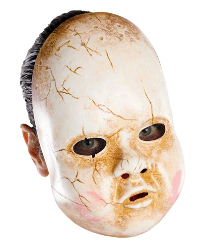 Baby Doll Mask Costume Accessory (Creepy Baby Doll Costume)