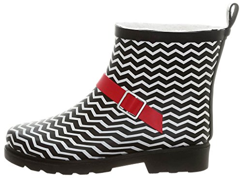 Short Rainboot Sporty York Ladies Printed Red Umbrella Black New Shiny Capelli Day Lined 0vw44q