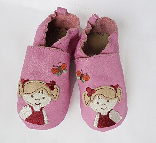 STERNTALER Beginner Babyschuhe Krabbelschuhe rosa weiches Leder Gr. 19/20