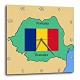 3dRose LLC The Map and Flag of Romania w