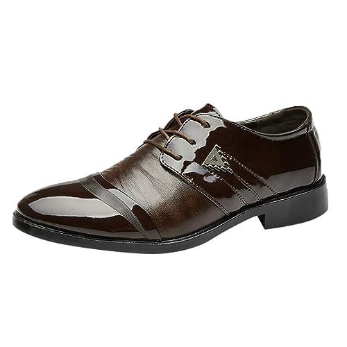 OHQ Zapatos Oxford Hombre Moda Cuero De Negocios Derby ...