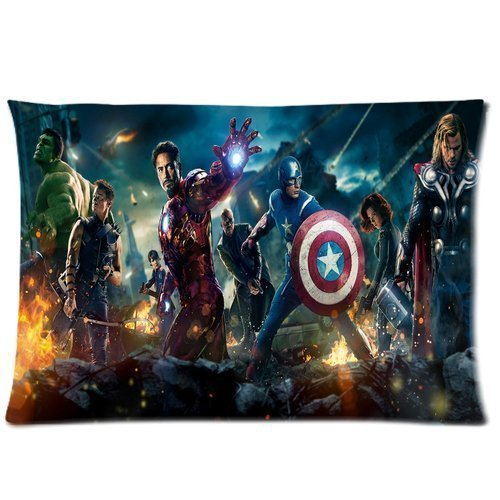 Custom Marvel Comics Avengers Pillowcase Standard Size 20x30 Two Sides Design Cotton Pillow Case (Marvel Comic Pillows compare prices)
