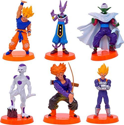 Dragon Ball 3 Super Saiyan Goku Son Gofan Picollo Daimao PVC Action Figure Model Childrens Favourite 5.3 13.5CM 6 Pcs/set