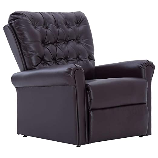Divani Chester E Poltrone Relax.Festnight Poltrona Reclinabile Chesterfield In Ecopelle Poltrona