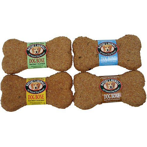 Nature'S Animals Original Bakery Biscuits, All Natural Dog Treats, Lamb And Rice, 24 (Large Dog Biscuits)
