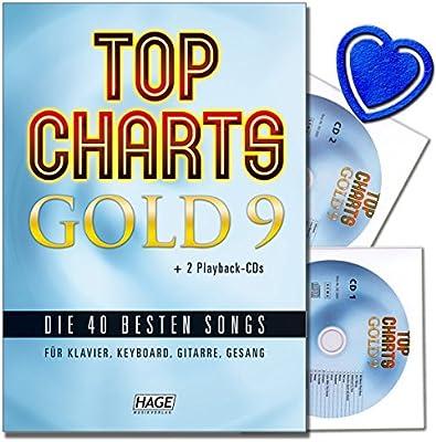 Top Charts Gold 9 con 2 CDs - 40 mejores canciones para piano ...