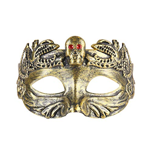 Rehoty Mens Masks Greek Roman Venetian Masquerade Mask for Party Costume Halloween Mardi Gras Carnival Cosplay(Gold)