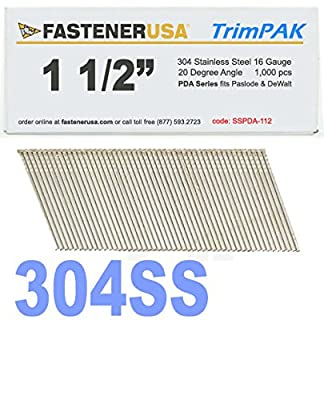 """1 1/2"""" Angle Finish Nails 16 Gauge 304 Stainless Steel 1M TrimPak from NailPro"""