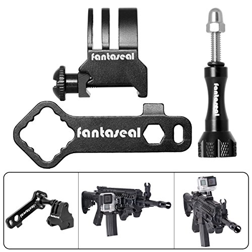 Fantaseal-Picatinny-Gun-Rail-Mount-Airsoft-Gun-Adapter-for-GoPro-SJCAM-Garmin-Virb-XE-Xiaomi-Yi-Action-Camera-Gun-Mount-Adapter-Shotgun-Hunting-Rifle-Pistol-Carbine-Gun-AR-15-M4-M16-Camera-Mount