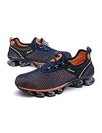 Mooremastle De Moda Ultra-Ligero Calzado Deportivo con Cordones de Estilo Casual Malla de Superficie Zapatos Corrientes Respirables Moda para los Hombres