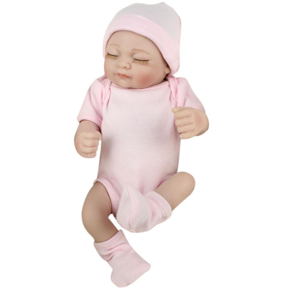 Simulation Doll, 28cm Lovely Silicone Lifelike Bathing Baby Doll Maternal and Child Care Paternity Toys for Kids Newborn Birthday Gift MKChung