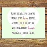 "No One Else Will Ever Know The Strength Of My Love For You Illustrative Quote PRINT. Beautiful print to frame for the nursery or child's bedroom... 7""x5"" Print."
