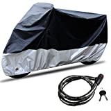 CARSUN All-Weather Motorcycle Cover Waterproof Double Color With Lock Hole And Free A Motorbike Lock (SIZE 1 - 86.6