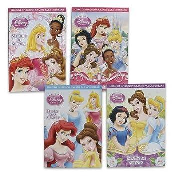 1 Pack Of Disney Princess Coloring Book In Spanish